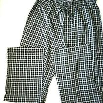 Express Mens Small Pajama Pants Black Plaid Soft Comfortable Drawstring S Sm Photo