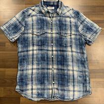 Express Mens Soft Wash Button Down Shirt Sz L Excellent Condition Photo