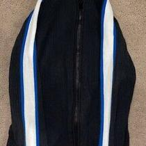 Express Men's Striped Long Sleeve Zip Up Jacket- Blue/white Photo
