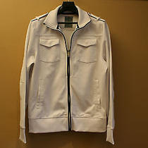 Express Men's Track Jacket Pure White With Pockets Photo