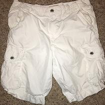 Express Men's White Cargo Shorts 32 Photo