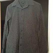 Express Mens Black Stripped Woven Modern Fit Size S Photo