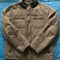 Express Mens Brown Utility Full Zip Jacket (Size m) Photo