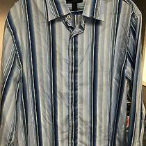 Express Mens Button Front Shirt Size Large Modern Fit Photo