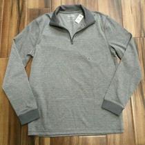 Express Mens Chevron Quarter Zip Sweatshirt Gray Size M Tall Medium Tall Nwt 79 Photo