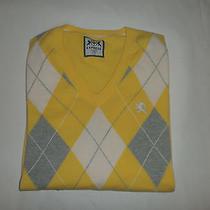 Express Mens  Cotton Vneck  Sweater Sz L Photo