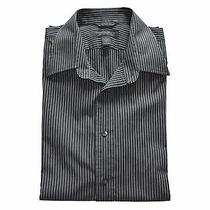 Express Mens Dress Shirt Long Sleeve Black Size L Modern  Fit Photo