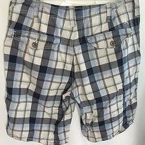 Express Mens Flat Front Plaid Shorts 31 Photo