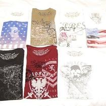 Express Mens Graphic Tees Lot of 7 Size M and L Photo