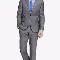 Express Mens Gray Photography Micro Twill Suit Jacket (R36) and Pant (W32 L32) Photo