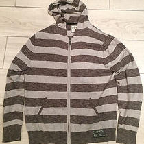 Express Mens Gray Striped Hoodie Mens Size L Photo