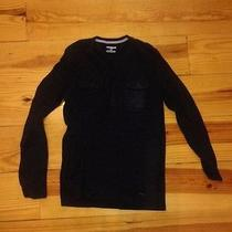 Express Mens Henley Small Black Adult Muscle Shirt  Photo