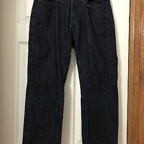 Express Mens Jeans- Kingston Classic Fit Straight Leg  Dark Wash 32x30 Read Photo