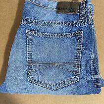 Express Mens Kingston Classic Fit Boot Cut Jeans Blue Denim 36 X 32 Photo