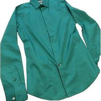 Express Mens L/s Button Down Dress Shirt Shamrock Green Size Xs Extra Slim Photo