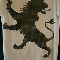 Express Mens Logo T Shirt Oversized Lion Graphic Tee Size M Photo