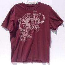 Express Mens Maroon Graphict Shirt Size Medium Photo