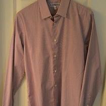 Express Mens Medium Shirt Extra Slim Fit 15-15 1/2  Red Stripped Dress  New Photo