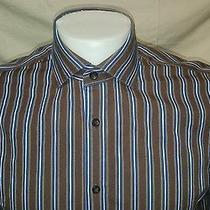 Express Mens Modern Fit Button-Up Long Sleeve Shirt Medium  Photo
