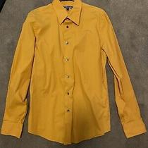 Express Mens Mustard Yellow Button Down Shirt Sz. M 15-15 1/2 Great Condition Photo