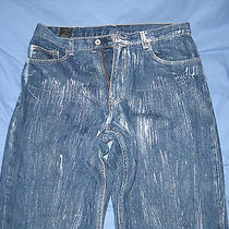 Express Mens Painted Styled Jeans Size 34x32 Nice  Photo