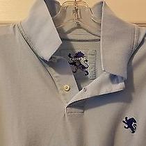 Express Mens Pique Polo Shirt Top Short Sleeve Xl Light Baby Blue 100% Cotton Photo
