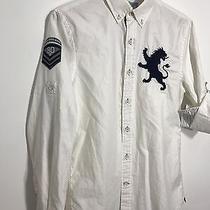 Express Mens Polo Shirt White Nwt Small Photo