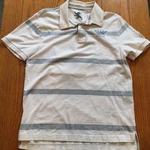 Express Mens Sz Medium Striped Short Sleeve Polo Shirt Photo