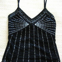 Expressmetallic Beaded Art Deco Empire Waist Stripe Corset Tank Top Datenight Photo