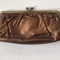 Express Metallic Bronze Leather Clutch Purse New Photo