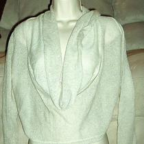 Express Metallic Cowl Neck Pullover Sweater Layered Look Off White Size Small Photo