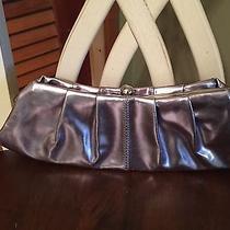 Express Metallic Purple Clutch Evening Purse Bag With Chain Photo