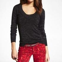Express Metallic v-Neck Sweater Size M Nwt Photo