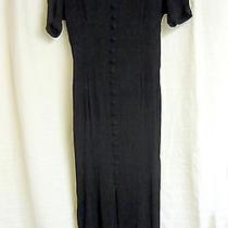 Express Midi Black Vintage Career Dress Size 9/10 Photo