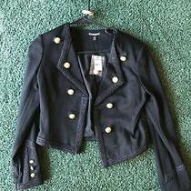Express Military Gold Buttons Brocade Blazer Jacket Womens S Bnwt Photo