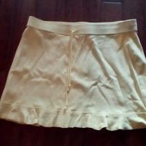 Express Mini Skirt Yellow Size Large Photo