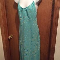 Express Mint Green Polka Dot Spaghetti Strap Dress Size 9/10 Photo