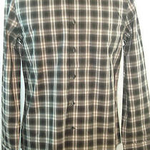 Express Modern Fit Dress Shirt  - Black Plaids Photo