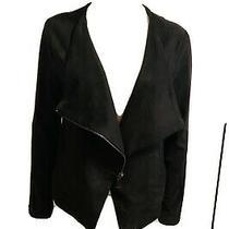 Express Moto Jacket Faux Suede Full Zip Black Hardware Women Sz M Photo