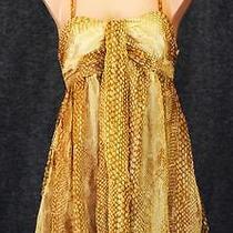 Express Multi Color Spaghetti Strap Side Zip Empire Knee Length Dress Sz 4 Photo