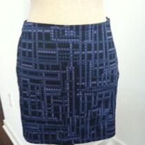 Express Multi Purple/black Mini Skirt Size 1/2 Photo