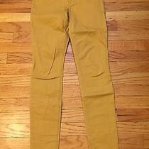 Express Mustard Yellow Skinny Legging Jeans Size 0 Photo
