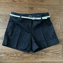Express Navy Blue / Soft Denim Fabric Shorts Size 2 Photo
