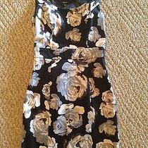 Express Navy Floral Print Dress Size  4  Photo