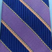 Express Navy Purple Great Tie Necktie Se9 Photo