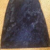 Express Navy Tie Dyed Skirt Small Stretch Photo