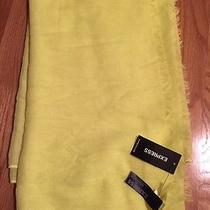 Express Neon Yellow Scarf Wrap Sarong Coverup Nwt Photo