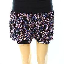 Express New Black Floral Printed Women's Size Small S Mini Short Shorts 45 Deal Photo
