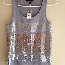 Express New With Tags Color Block Sequin Tank Top Size S Tag Price 49.90 Photo