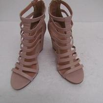 Express Nude Cage Wedge Sandal Sz 7 Photo